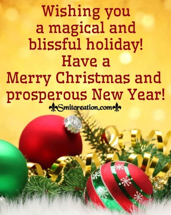 Merry Christmas And Prosperous New Year!