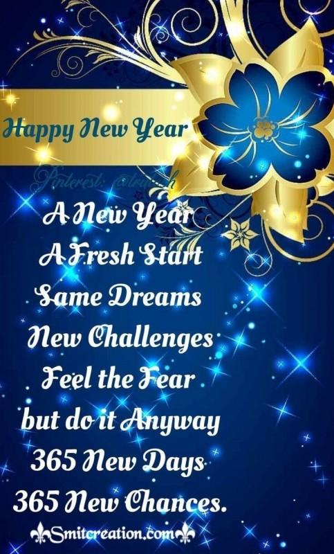 365 New Days New Year Wish