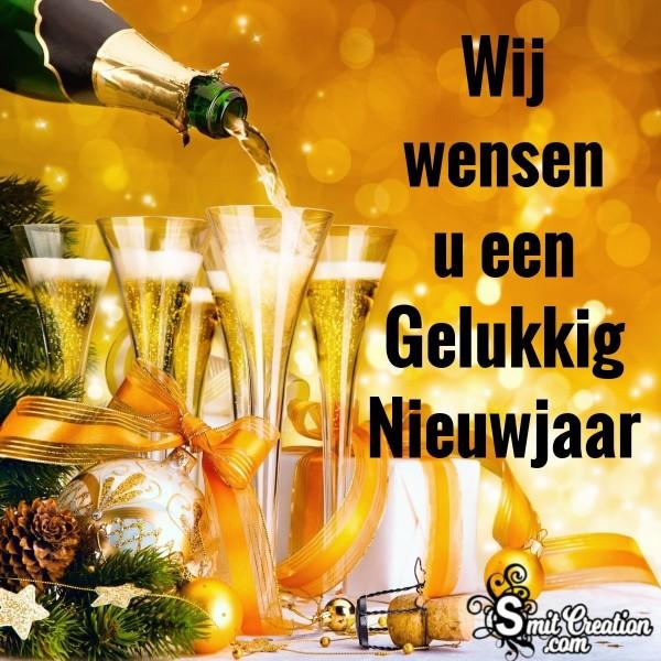 Wij Wensen U Een Gelukkig Nieuwjaar