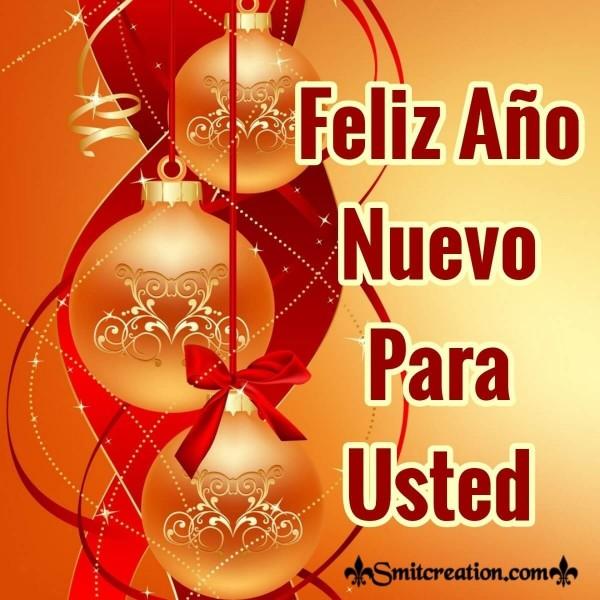 Feliz Año Nuevo Para Usted