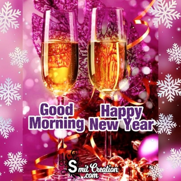 Good Morning Happy New Year Wine Card