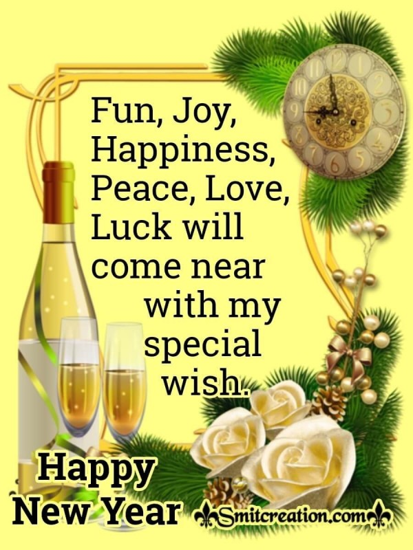 Happy New Year Wish For Whatsapp