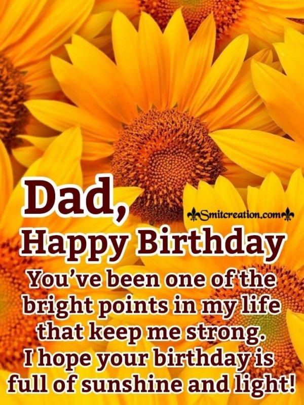Happy Birthday Sunflower Card For Dad