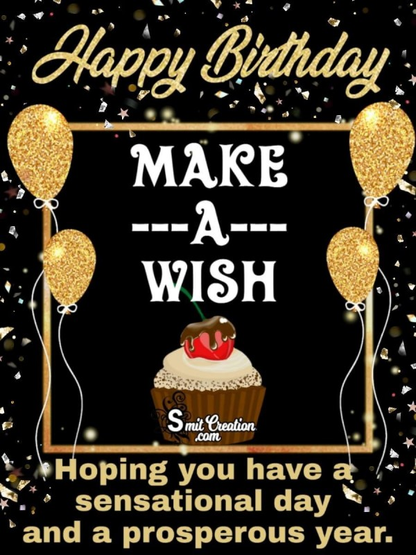 Happy Birthday Make A Wish Card