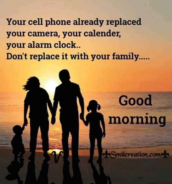 Good Morning Quote On Cell Phone
