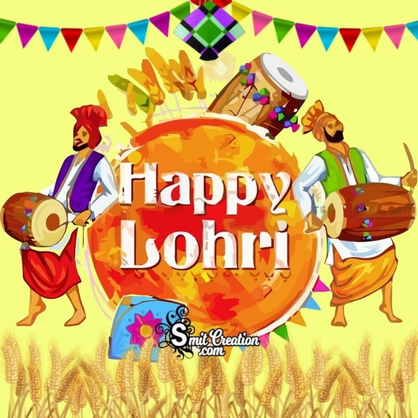 Happy Lohri Greeting Card