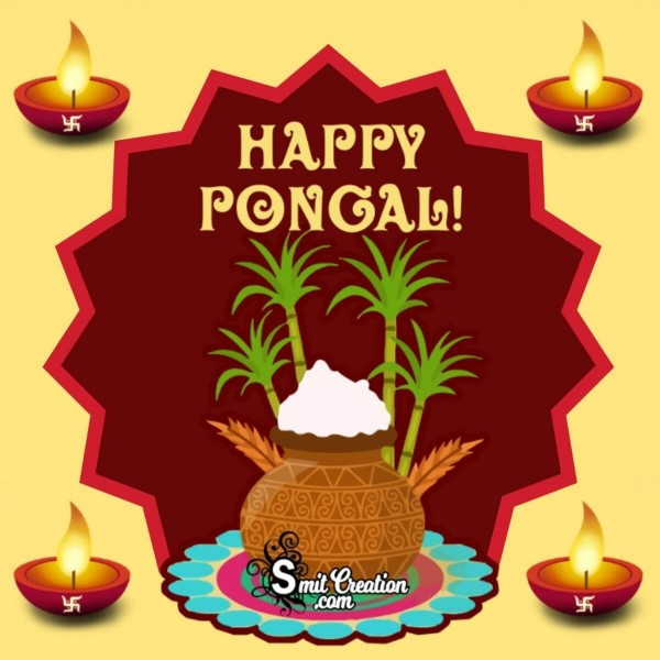 Happy Pongal Festival Card For Whatsapp