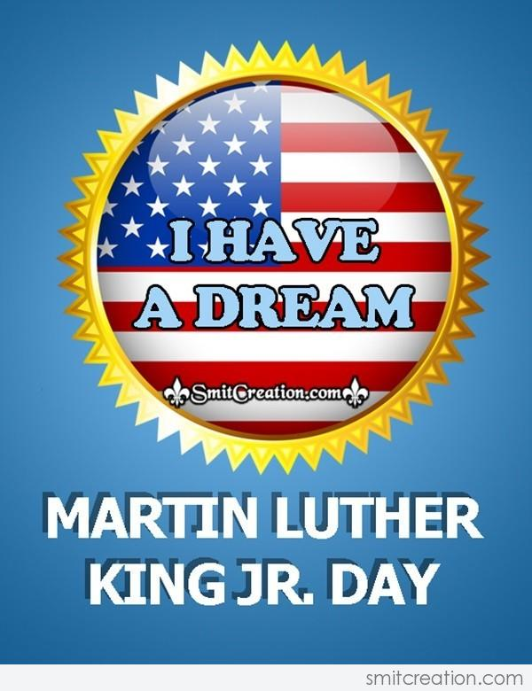 Martin Luther King Day Badge Card