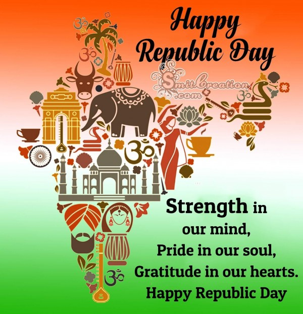 Happy Republic Day Status Card