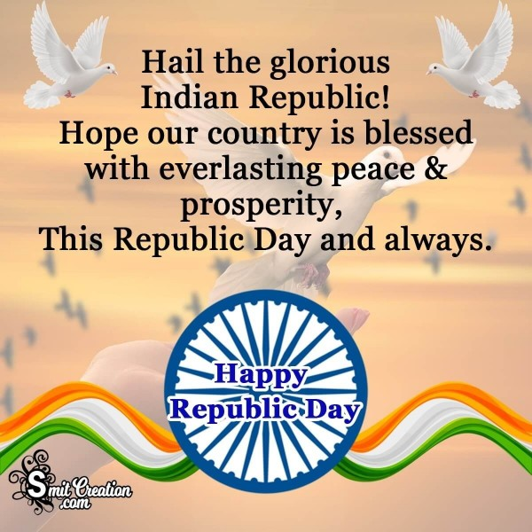 Happy Republic Day Blessings Card