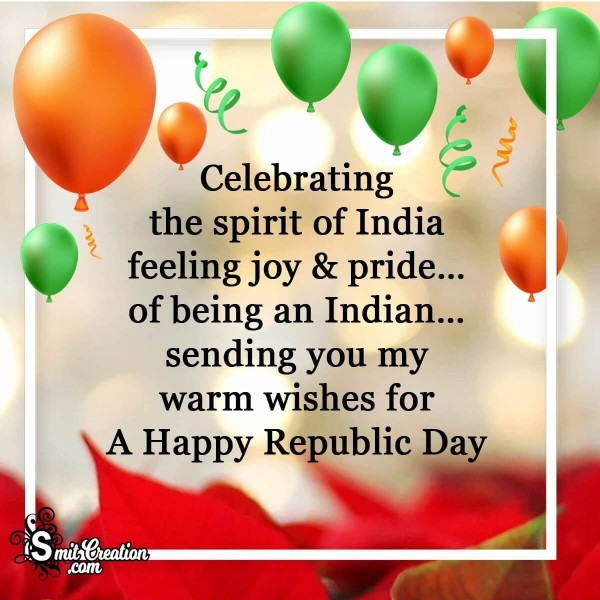 Warm Wishes For Happy Republic Day Card