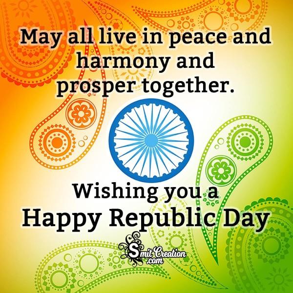 Wishing You A Happy Republic Day