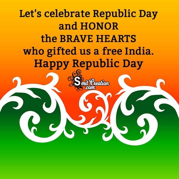 Happy Republic Day Greeting Card