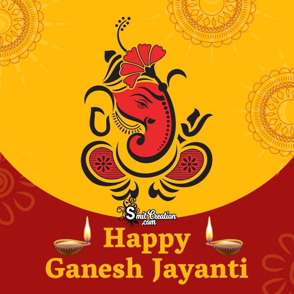 Happy Ganesh Jayanti Creative Card