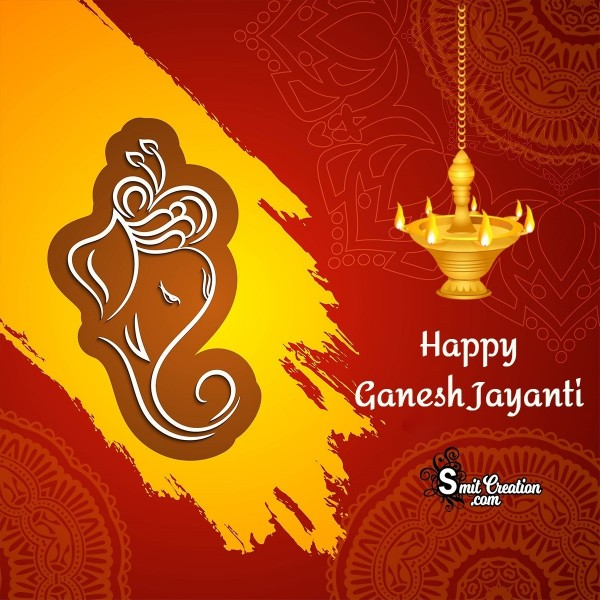 Happy Ganesh Jayanti Phjoto Card
