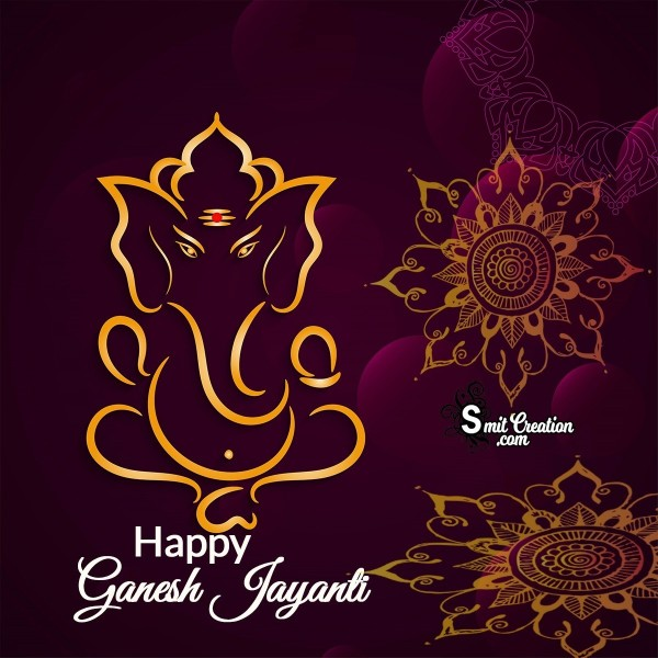 Happy Ganesh Jayanti Decor Card