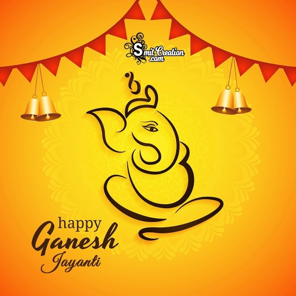 Happy Ganesh Jayanti Festival Card