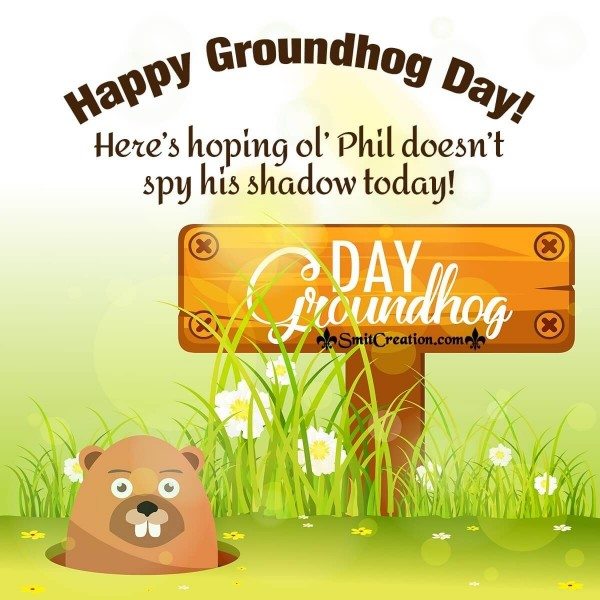 Cute Phil Happy Groundhog Day Card