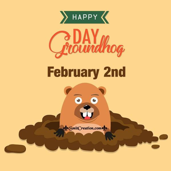 Happy Groundhog Day February 2nd Card