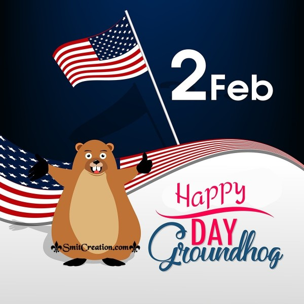 February 2nd Happy Groundhog Day Card