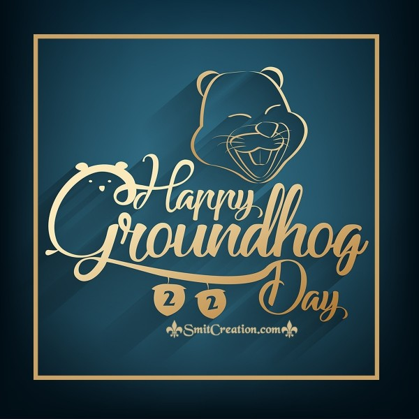 Happy Groundhog Day Cute Greeting Card