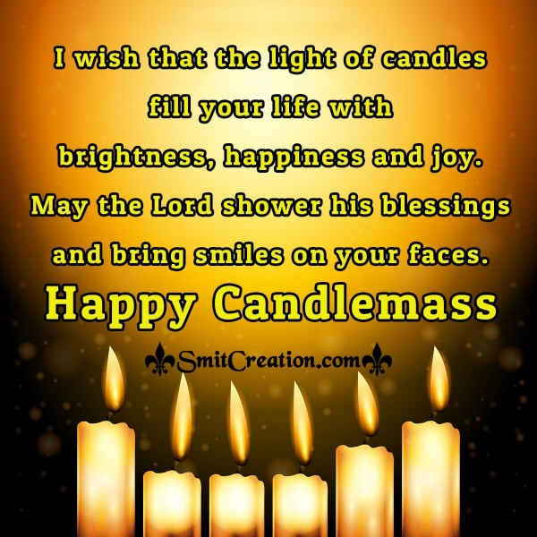 Happy Candlemas Blessings Card