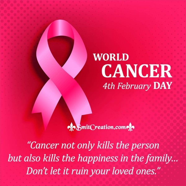 4th February World Cancer Day Quote Card