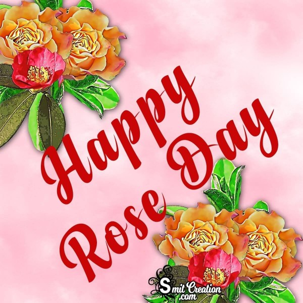 Happy Rose Day Pink Card
