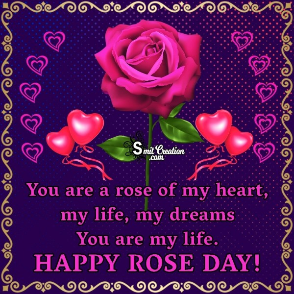 HAPPY ROSE DAY TO MY SWEET HEART
