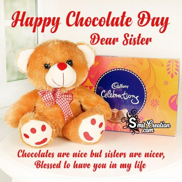 Happy Chocolate Day Dear Sister