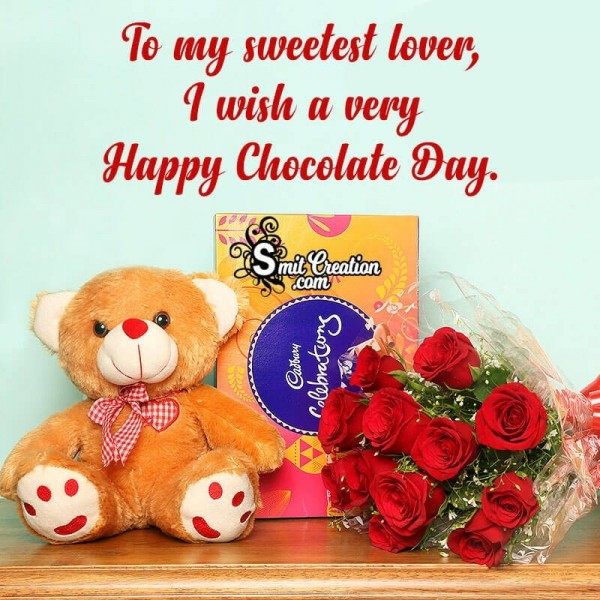 To My Sweetest Lover A Very Happy Chocolate Day