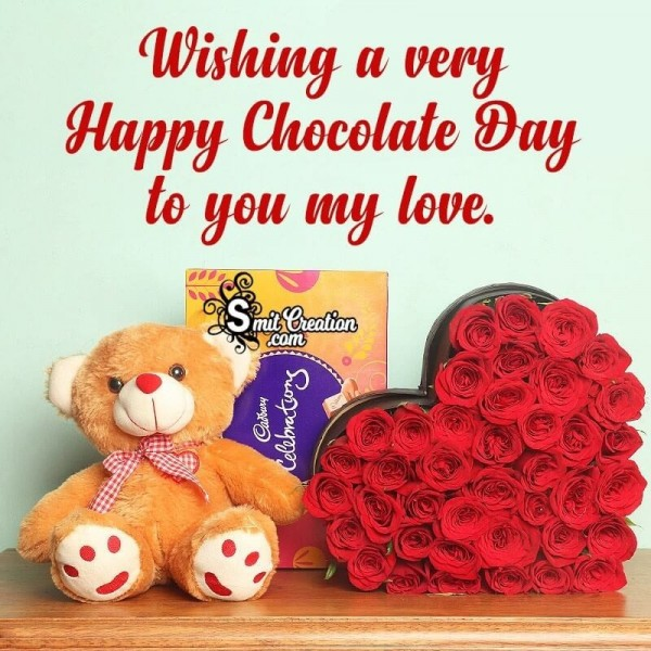 Wishing A Very Happy Chocolate Day To You My Love