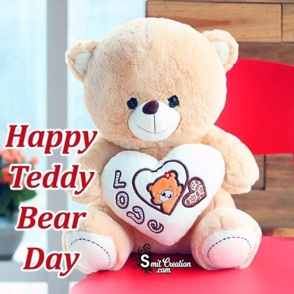 Happy Teddy Bear Day Love Card