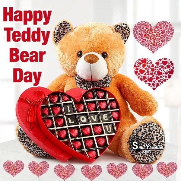 Happy Teddy Bear Day I Love You Card