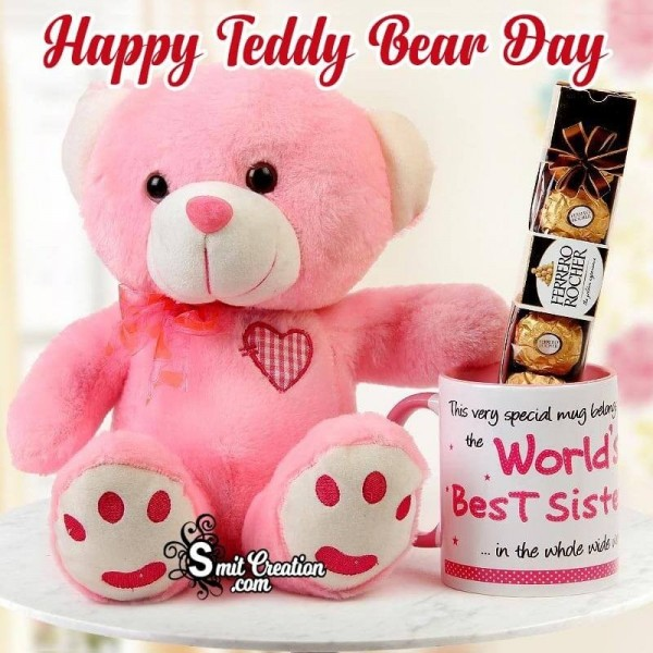 Happy Teddy Bear Day Love Card For World Best Sister