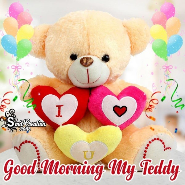 Good Morning My Teddy Card