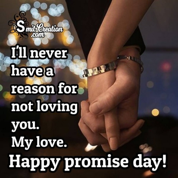 Happy promise day My Love