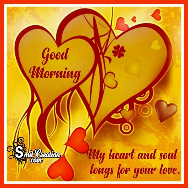 Good Morning Two Hearts Card