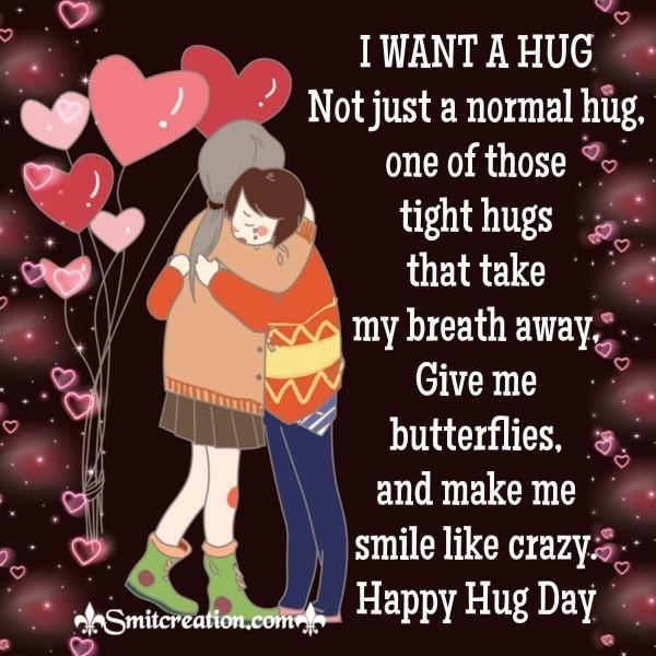Happy Hug Day Card For Whatsapp