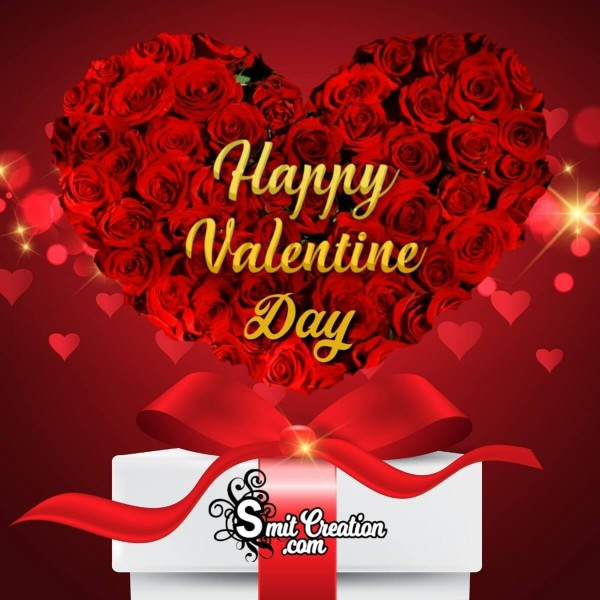 Happy Valentine Day Roses Bouquet Card