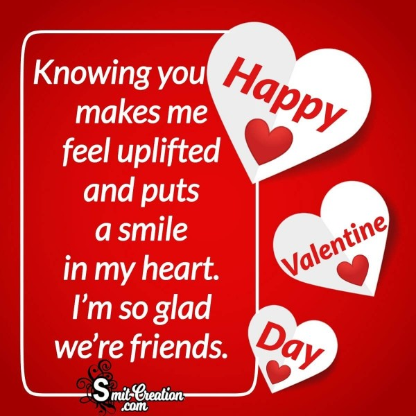 Happy Valentine day Message Card For Friend