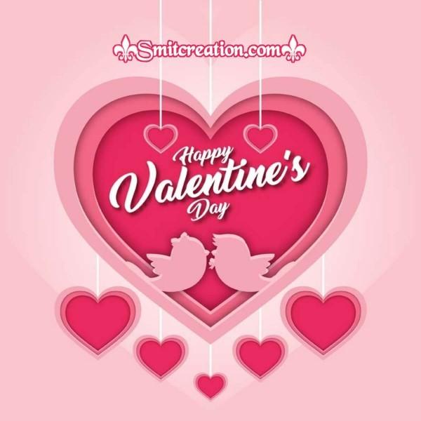 Happy Valentines Day Love Birds Card