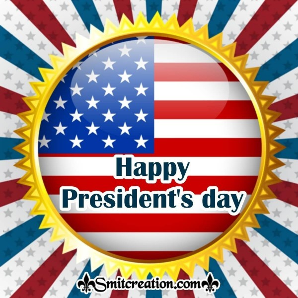 Happy President's day Badge Card
