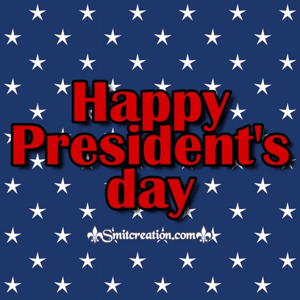 Happy President's day Blue Background