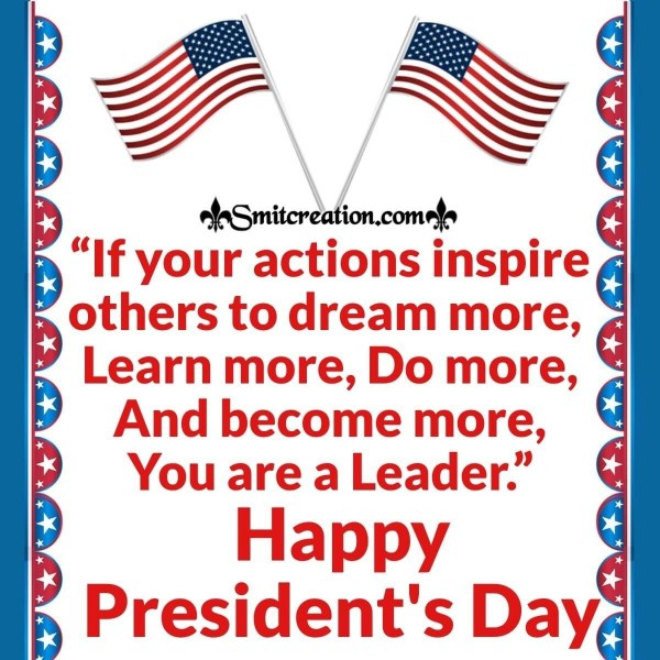 Happy President's Day Message Card