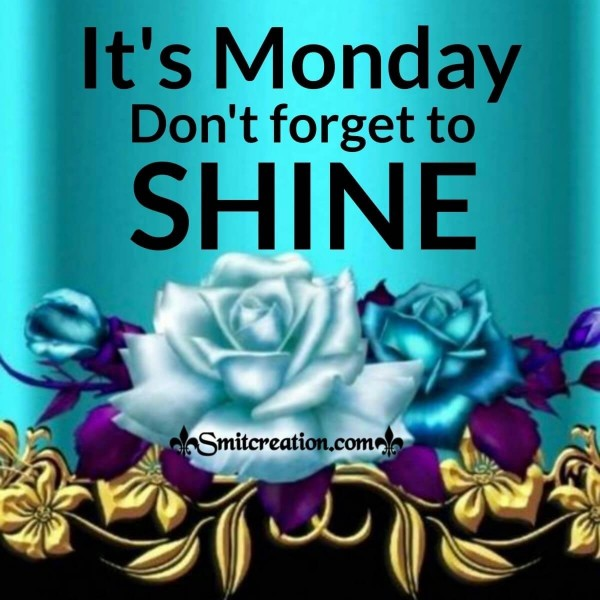 It's Monday, Don't Forget To Shine