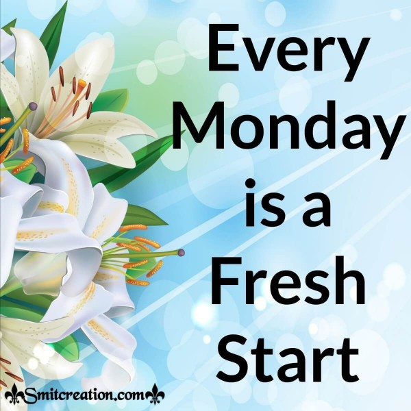 Every Monday Is A Fresh Start