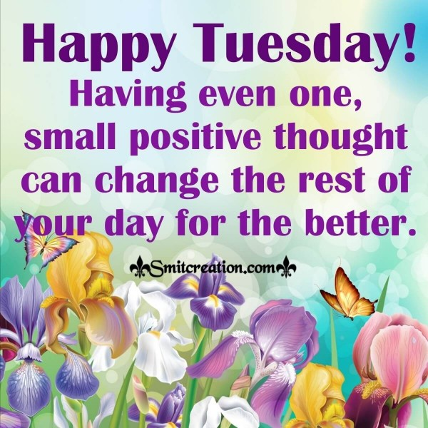 Happy Tuesday Small Positive Thought