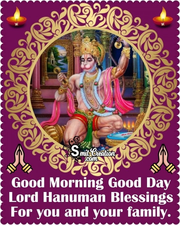 Good Morning Lord Hanuman Blessings