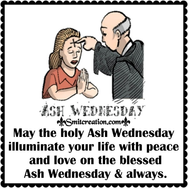 Blessed Ash Wednesday Card